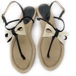 kate spade new york Womens Sandals Sz 8M Tan Bow